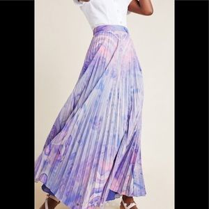 Anthropologie Marble - Dyed Pleated Maxi Shirt